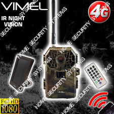 4G Trail Camera Solar Powered Security Hunting Remote Control View on Phone 3G