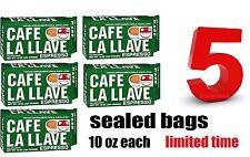 5 Cafe La Llave 5 PACKs of Cuban coffee ground,espresso cafe cubano,cappuccino