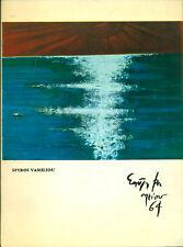 VASSILIOU Spyros. Catalogo con 24 tavole in bianco e nero. 1964