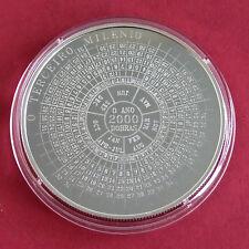 S TOME 1998 CALENDAR - 2000 MILLENNIUM 2000 DOBRAS SILVER PROOF