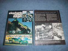 "Jim Green's 1977 Vega Funny Car Vintage Article ""The Green Elephant"""