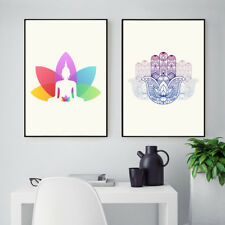 Modern Art Prints - Minimal Indian Yoga Style 2 Piece Canvas Wall Decor Unframed