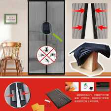 Home Magic Mesh Hands Free Screen Net Magnetic Anti Mosquito Bug Door Curtain FE