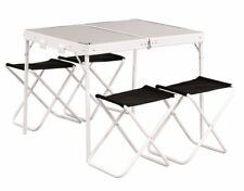 Easy Camp Provence Table & Stools Camping & Garden Picnic Bench With 4 Chairs