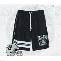 MAJESTIC ATHLETIC OAKLAND RAIDERS NFL WATLING SHORTS SPORT CASUAL MENS SHORT
