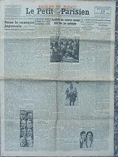 Le Petit Parisien (19 oct 1932) Académie des sciences morales - Reich - Japon