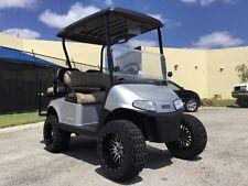 New listing  REFURB silver 2017 ezgo 48v RXV 4 seat Passenger golf cart alloy rim lifted FAST