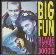 "7"" Big Fun Blame It On The Boogie (Vocal & Instrumental) 80`s Jive Music"