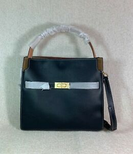 NEW Tory Burch Black Lee Radziwill Small Double Bag $898