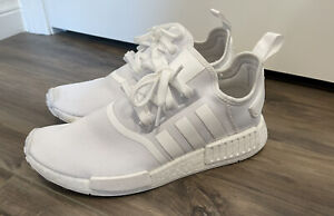 Adidas Mens NMD R1 Triple White Size 10 Running Shoes FY9384