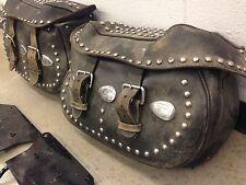 Vintage style harley davidson saddle bags heritage softail springer,knucklehead