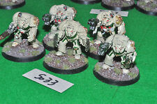 dark angel space marine deathwing terminator squad 5 (5033) painted metal warham