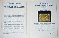 FRANCE FRANKREICH Charles de Gaulle Vignette Gold Foil 2000 pcs Statesman MNH R