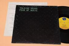 TALKING HEADS LP FEAR OF MUSIC NEW WAVE 1°ST PORTOGHESE+TESTI AUDIOFILI EX