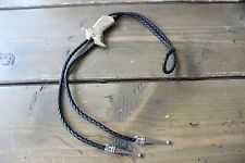 Vintage Leather Cowboy Boot Bolo Tie