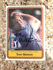 TOM WATSON signed 1981 Donruss golf card AUTO Autographed Statistical Leader '82