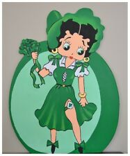 lawn stakes or wall plaque Betty Boop lawn art St. Patty's day Irish