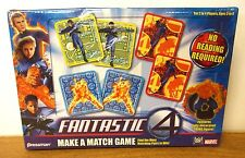 FANTASTIC FOUR Make A Match board game 2005 Marvel cards unopened Thing figure