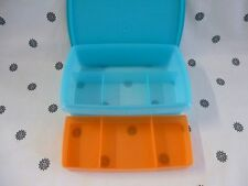 Tupperware Divided Storage Container with Divided Insert Sewing Craft New