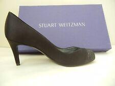 Womens Shoes - Stuart Weitzman - Marvel - Black Satin - Size 7.5M - NWB