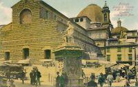 FIRENZE–Piazza S. Lorenzo e Monumento a Giovanni Dalle Bande Nere-Florence-Italy