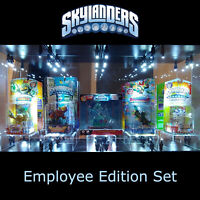 COMPLETE SET OF FIVE - SKYLANDERS EMPLOYEE EDITION - EXTREMELY RARE - NEW SEALED