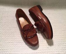 ALLEN EDMONDS Woodstock Loafers Slip-on Shoes $375 Tan Mahogany 11.5 3E EEE Wide