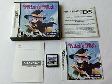 Witch's Wish Complete Game for Nintendo DS Lite 3DS 2DS **TESTED & WORKS GREAT**