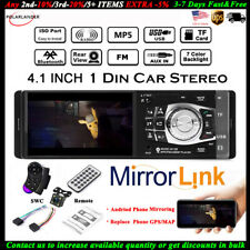 4.1''1 Din Car Radio+Camera Bluetooth Stereo Wheel Control AUX/USB/FM MP5 Player