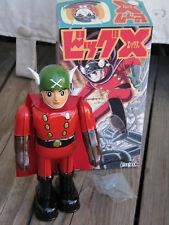"""RARE ~ BILLIKEN 1995 BIG X 9"""" Tin Wind Up Robot Superhero JAPAN in Box ~ EUC"""