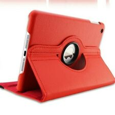 Red-Leather 360 Rotating Smart Case Cover For Apple iPad Air/iPad 4/3/2/iPad Min