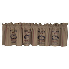 New Primitive Farmhouse Chic Vintage BUNNY RABBIT FEED SACK Curtain Valance