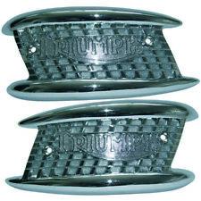 TRIUMPH Gasolina Tanque insignias par órgano de la Boca 3 GAL (approx. 11.36 L) 82-4127/8