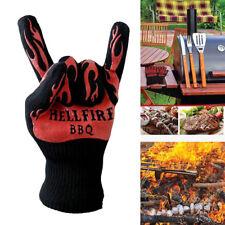 Heat Resistant Proof Cooking Oven Glove Hot BBQ Grill Holder Gloves Mitt Rakish