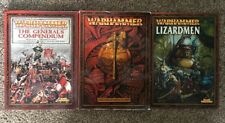 Lot of 3 Warhammer Armies Core Rulebook, Generals Compendium and Lizardmen Codex