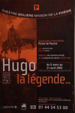 Affiche  de Théâtre 40 x 60 cm - MAISON DE LA POESIE - HUGO LA LEGENDE