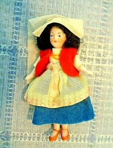 ANTIQUE/VINTAGE ALL BISQUE GIRL DOLL GERMANY DOLLHOUSE MINIATURE