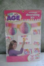 """Add-An-Age"""" Customizable Decorating Kit Birthday Girl garlands-centerpieces"""