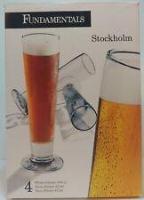 SET OF FOUR (4) LIBBEY STOCKHOLM 14.25 OZ PILSNER BEER GLASSES GLASS SET NEW!