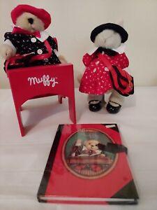 Muffy Vanderbear & Hoppy Back School Outfits Red Desk Bookbags Muffy's Journal