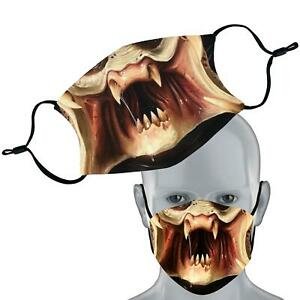Sci Fi Predator Inspired Face Mask Double Layer Washable Face Cover