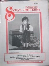 "Seeley's Dollmaker's Pattern #MP54 MID-VICTORIAN COSTUME knickers Bolero 20""doll"