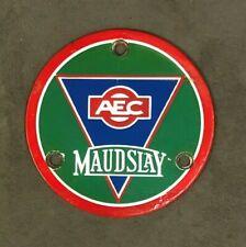 AEC MAUDSLEY ENAMEL BUS TRUCK LORRY COMMERCIAL TRANSPORT HUB DISK BADGE EMBLEM