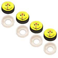 4 Black Custom License Plate Frame Screw Snap Caps Covers Shot Smiley Face
