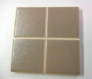 "AO American Olean USA 4-1/4"" Sq. Crystaline Ceramic Scored Brown 1 Wall Tile Vtg"