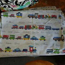 "Pottery Barn Kids ""Circus Train"" Crib Flat Sheet"