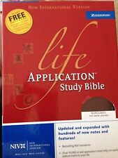 NEW - NIV Life Application Study Bible by Zondervan (2005, Leather, Revised)