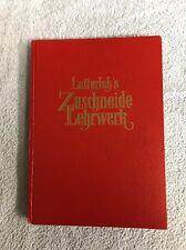 Zuschneide - Lehrwerk, Lutterloh Schnittmuster Buch antik alt