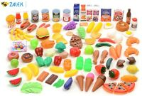 120 Pack Plastic Kitchen Set Food Play Pretend Kids Toys Beverages Grocery New