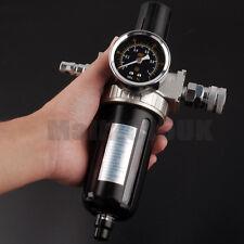 Air Compressor Moisture Water Trap Filter Regulator Separator & Mount Connection